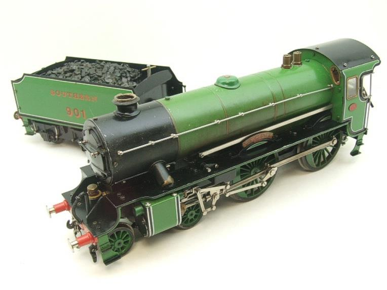 "Gauge 1 Aster SR Southern Schools Class 4-4-0 Loco & Tender ""Winchester"" R/N 901 Live Steam image 11"