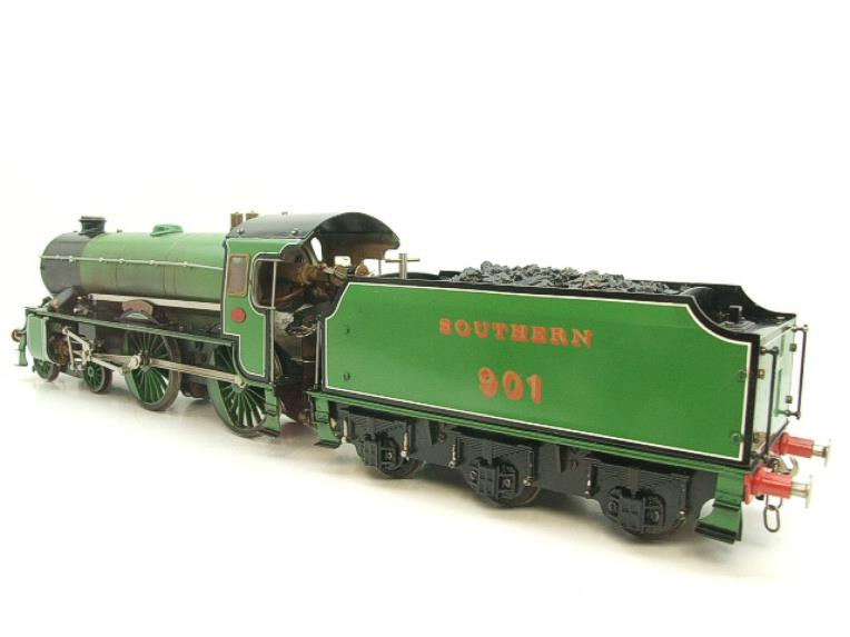 "Gauge 1 Aster SR Southern Schools Class 4-4-0 Loco & Tender ""Winchester"" R/N 901 Live Steam image 19"