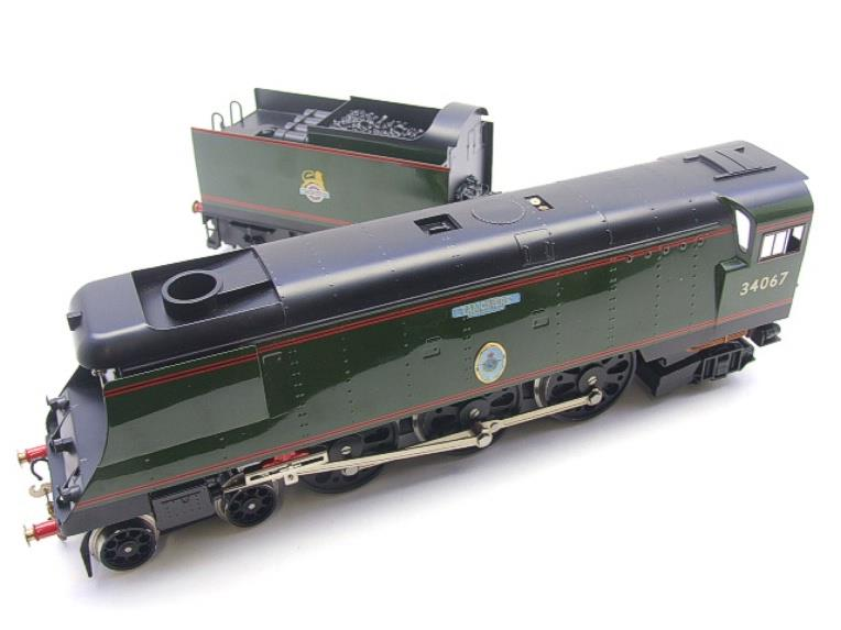 "Ace Trains O Gauge E9 Bulleid Pacific BR Green ""Tangmere"" R/N 34067 Bxd Elec 2/3 Rail image 11"
