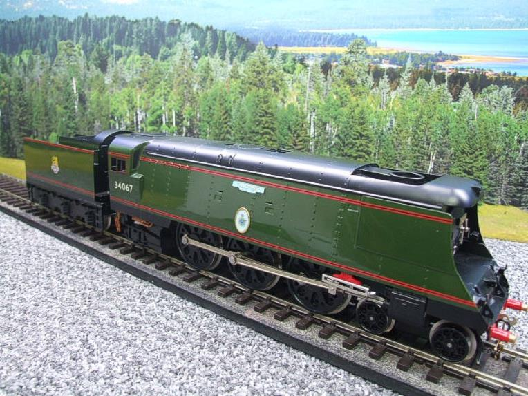 "Ace Trains O Gauge E9 Bulleid Pacific BR Green ""Tangmere"" R/N 34067 Bxd Elec 2/3 Rail image 20"