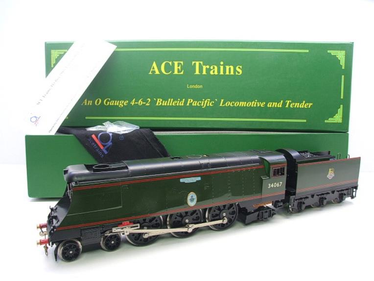 "Ace Trains O Gauge E9 Bulleid Pacific BR Green ""Tangmere"" R/N 34067 Bxd Elec 2/3 Rail image 21"