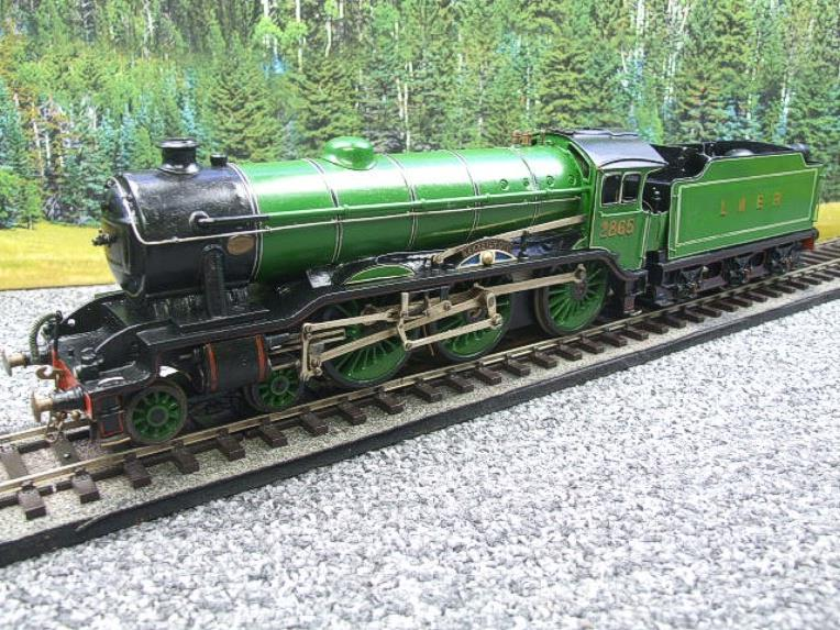 "O Gauge Solid Brass LNER B17/4 Class 4-6-0 ""Leicester City"" R/N 2865 Electric 3 Rail image 20"