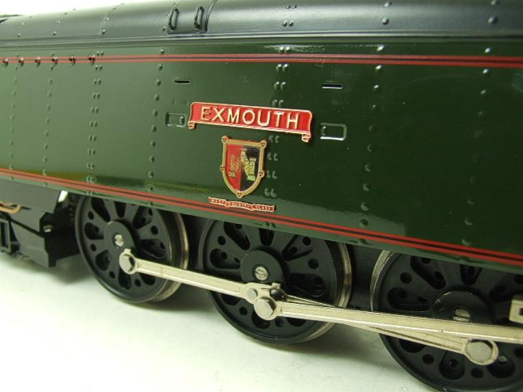 "Ace Trains O Gauge E9 Bulleid Pacific BR ""Exmouth"" R/N 34015 Electric 2/3 Rail Bxd image 12"