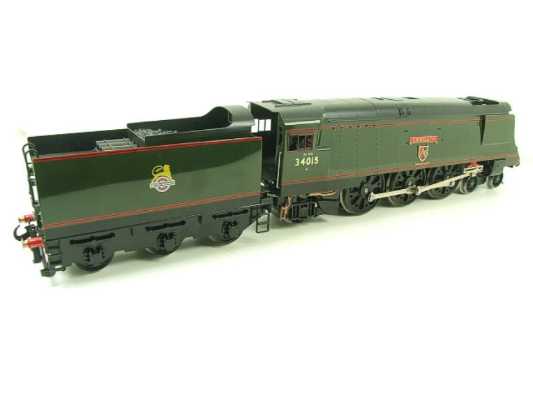 "Ace Trains O Gauge E9 Bulleid Pacific BR ""Exmouth"" R/N 34015 Electric 2/3 Rail Bxd image 13"
