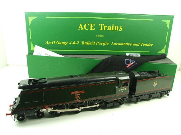 "Ace Trains O Gauge E9 Bulleid Pacific BR ""Exmouth"" R/N 34015 Electric 2/3 Rail Bxd image 20"