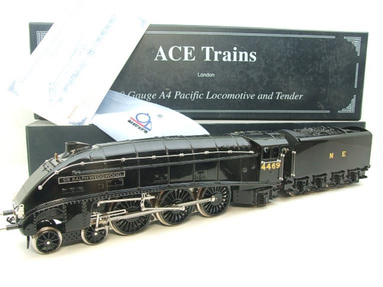 "Ace Trains O Gauge E4 NE Black A4 Pacific ""Sir Ralph Wedgewood"" R/N 4469 Electric 3 Rail Boxed image 22"