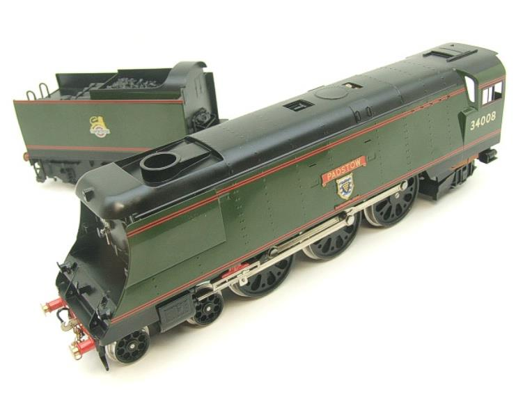 "Ace Trains O Gauge E9 Bulleid Pacific BR ""Padstow"" R/N 34008 Electric 2/3 Rail Bxd image 11"