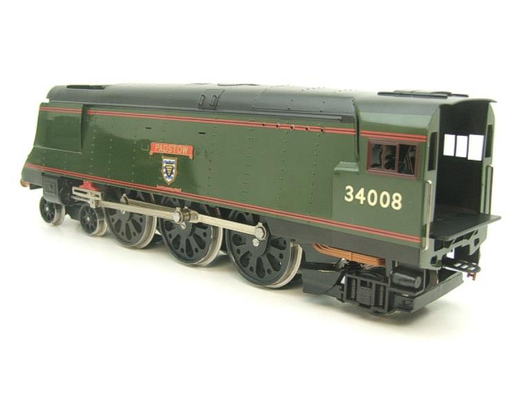 "Ace Trains O Gauge E9 Bulleid Pacific BR ""Padstow"" R/N 34008 Electric 2/3 Rail Bxd image 12"