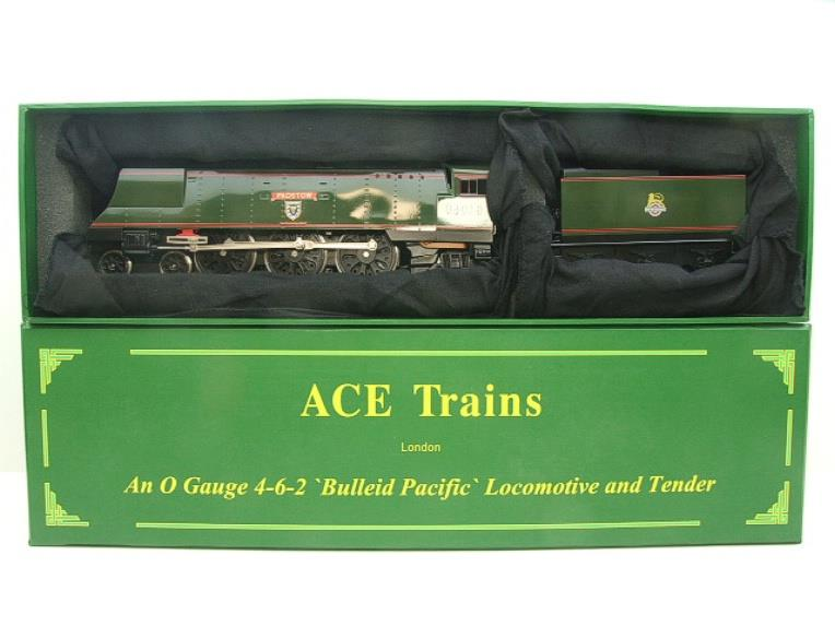 "Ace Trains O Gauge E9 Bulleid Pacific BR ""Padstow"" R/N 34008 Electric 2/3 Rail Bxd image 18"