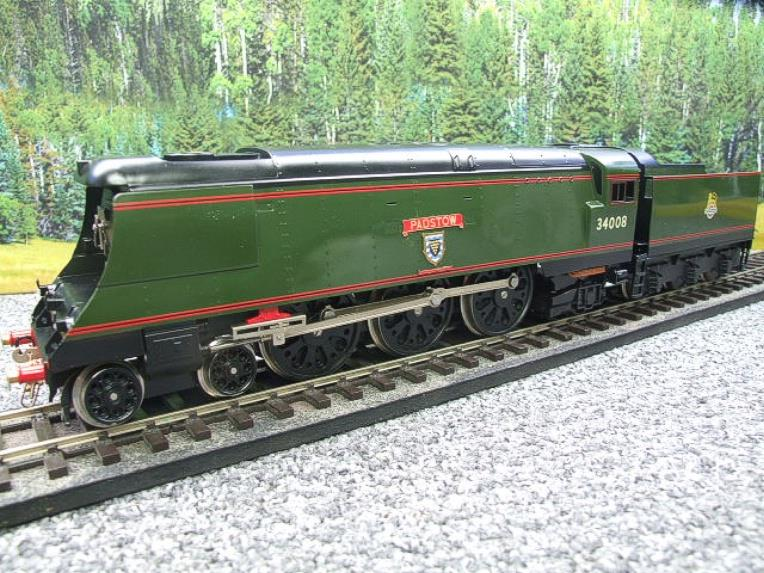 "Ace Trains O Gauge E9 Bulleid Pacific BR ""Padstow"" R/N 34008 Electric 2/3 Rail Bxd image 19"