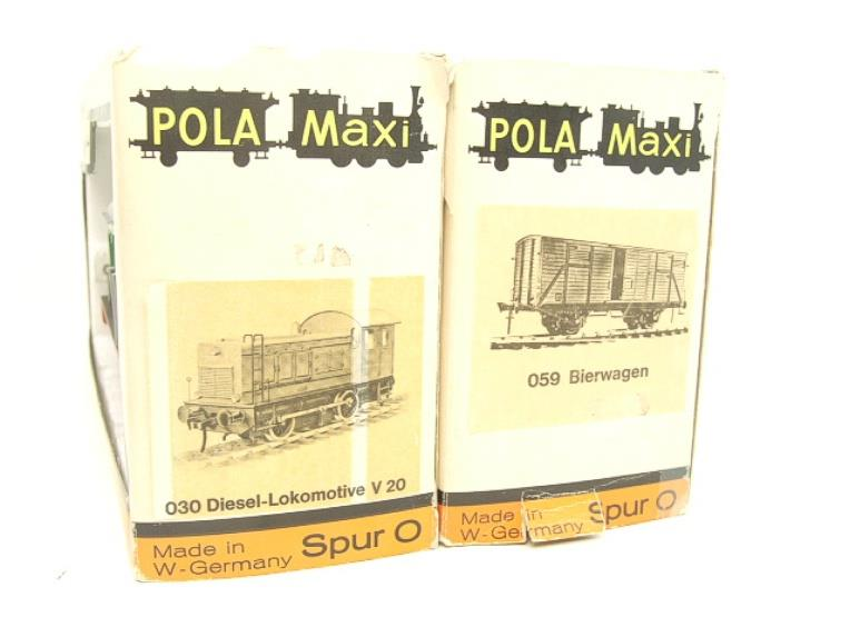 Pola Maxi/Lima/Rivarossi O Gauge DB Diesel Shunter Loco & Beer Wagon Electric 3 Rail Boxed image 12