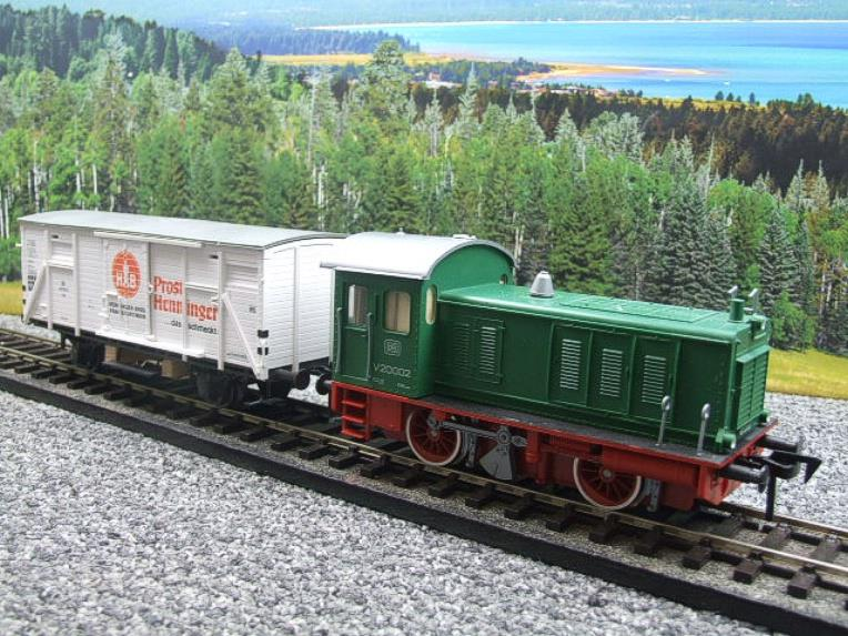 Pola Maxi/Lima/Rivarossi O Gauge DB Diesel Shunter Loco & Beer Wagon Electric 3 Rail Boxed image 16