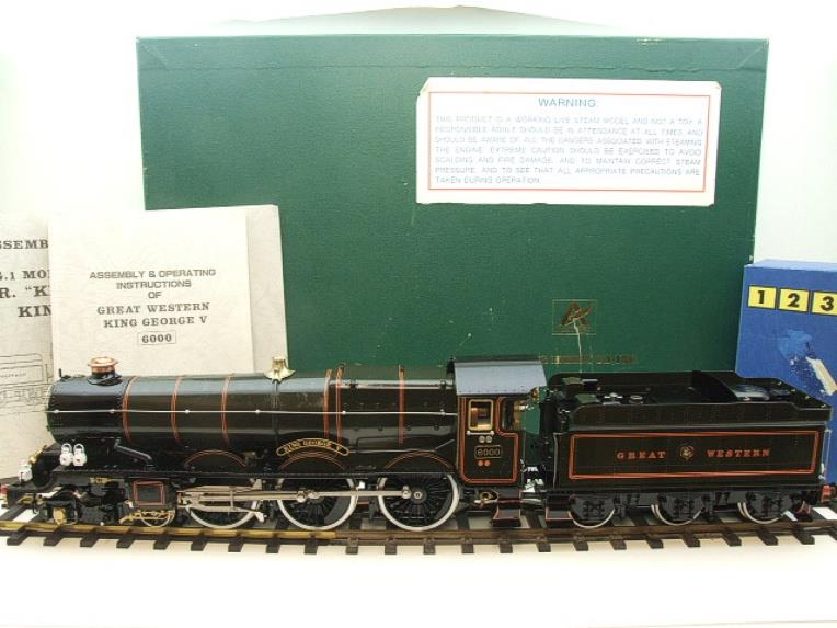 "Gauge 1 Aster GWR King Class ""King George V"" R/N 6000 Live Steam Boxed image 22"