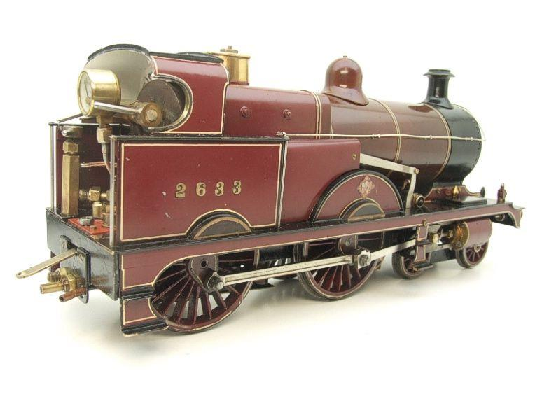 "Gauge 1 Live Steam Brass MR ""Johnson Belpaire"" 4-4-0 Loco & Tender R/N 2633 image 12"