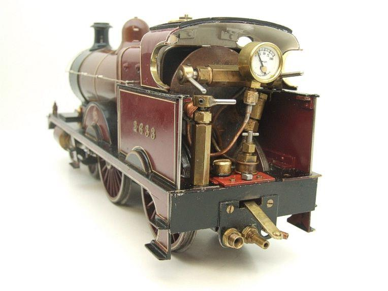 "Gauge 1 Live Steam Brass MR ""Johnson Belpaire"" 4-4-0 Loco & Tender R/N 2633 image 13"