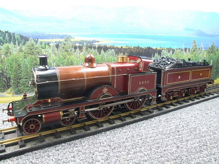 "Gauge 1 Live Steam Brass MR ""Johnson Belpaire"" 4-4-0 Loco & Tender R/N 2633 image 16"