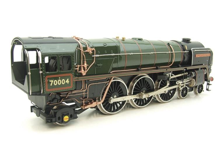 "Ace Trains O Gauge E27D BR Green Britannia Class ""William Shakespeare"" FOB Edition"" R/N 70004 Bxd image 13"