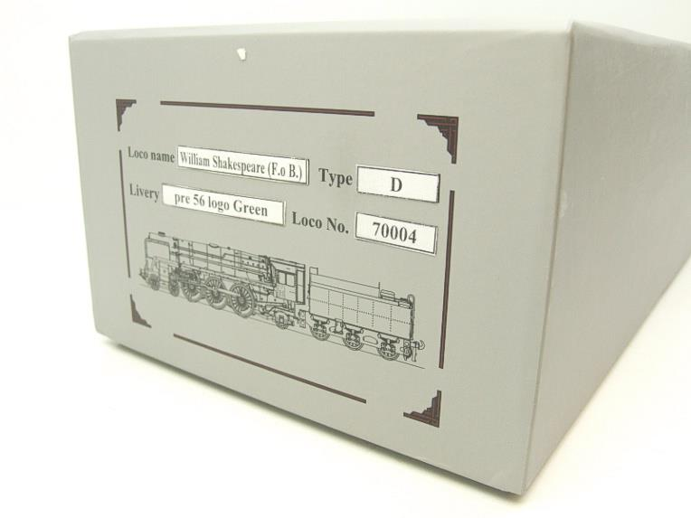 "Ace Trains O Gauge E27D BR Green Britannia Class ""William Shakespeare"" FOB Edition"" R/N 70004 Bxd image 18"