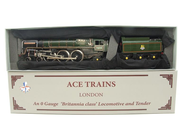 "Ace Trains O Gauge E27D BR Green Britannia Class ""William Shakespeare"" FOB Edition"" R/N 70004 Bxd image 19"