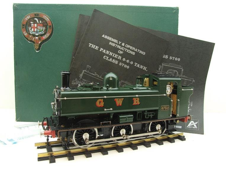 Gauge 1 Aster GWR Green Class 5700 Pannier Tank Loco R/N 6752 Insulated Wheels Ed Live Steam image 20