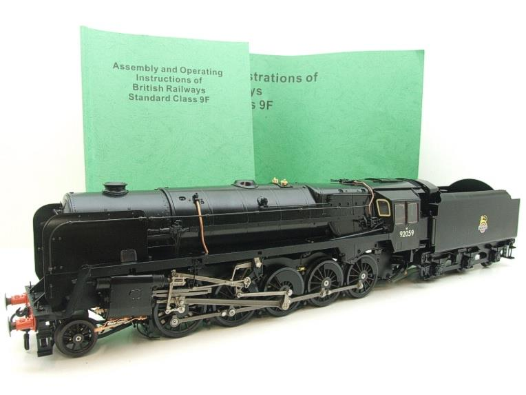 Gauge 1 Aster Accucraft BR Black Class 9F 2-10-0 Loco & Tender R/N 92059 Live Steam As New image 20