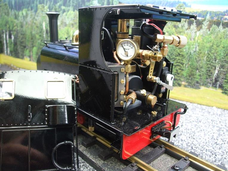 "G Scale  Roundhouse 45mm Gauge Brass, Black, 0-4-0T ""Lilla"" Saddle Tank Loco Live Steam New Bxd image 11"