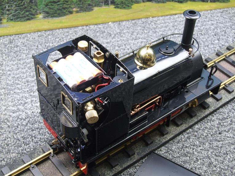 "G Scale  Roundhouse 45mm Gauge Brass, Black, 0-4-0T ""Lilla"" Saddle Tank Loco Live Steam New Bxd image 13"