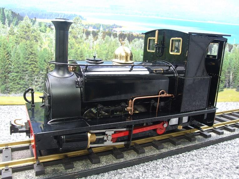 "G Scale  Roundhouse 45mm Gauge Brass, Black, 0-4-0T ""Lilla"" Saddle Tank Loco Live Steam New Bxd image 15"