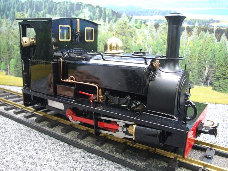 "G Scale  Roundhouse 45mm Gauge Brass, Black, 0-4-0T ""Lilla"" Saddle Tank Loco Live Steam New Bxd image 19"