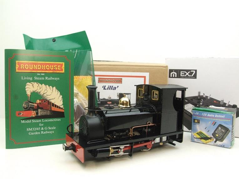 "G Scale  Roundhouse 45mm Gauge Brass, Black, 0-4-0T ""Lilla"" Saddle Tank Loco Live Steam New Bxd image 20"