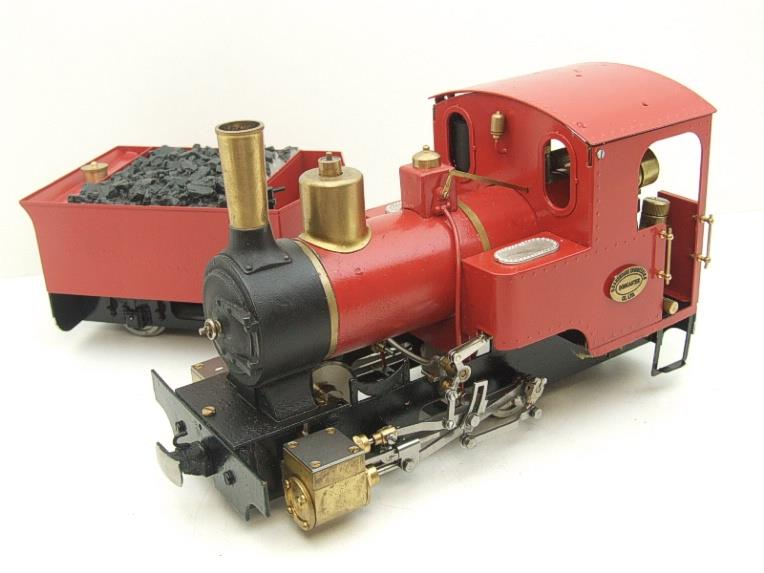 "G Scale  Roundhouse 45mm Gauge Brass, Red, 0-4-0T ""Billy"" Loco & ""George"" Tender Live Steam image 11"