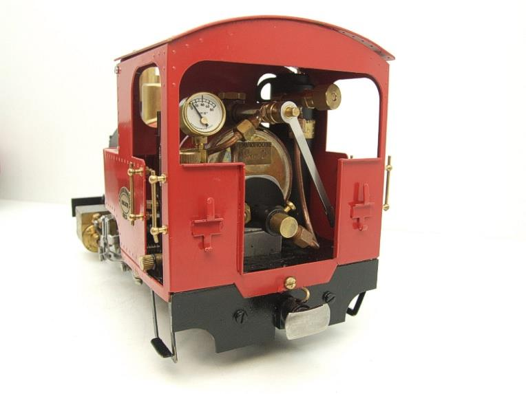 "G Scale  Roundhouse 45mm Gauge Brass, Red, 0-4-0T ""Billy"" Loco & ""George"" Tender Live Steam image 12"