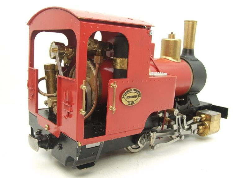 "G Scale  Roundhouse 45mm Gauge Brass, Red, 0-4-0T ""Billy"" Loco & ""George"" Tender Live Steam image 13"