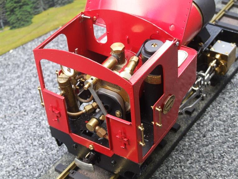 "G Scale  Roundhouse 45mm Gauge Brass, Red, 0-4-0T ""Billy"" Loco & ""George"" Tender Live Steam image 15"