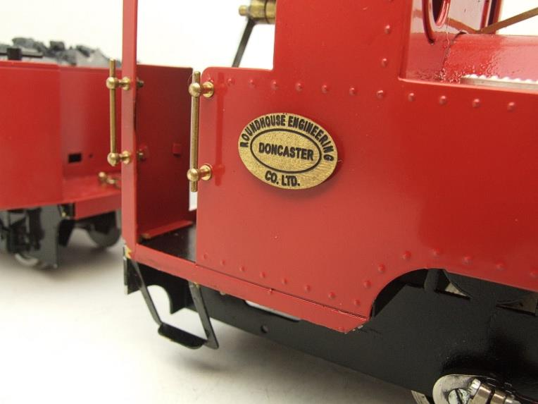 "G Scale  Roundhouse 45mm Gauge Brass, Red, 0-4-0T ""Billy"" Loco & ""George"" Tender Live Steam image 19"
