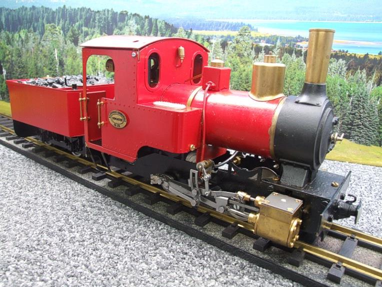 "G Scale  Roundhouse 45mm Gauge Brass, Red, 0-4-0T ""Billy"" Loco & ""George"" Tender Live Steam image 20"