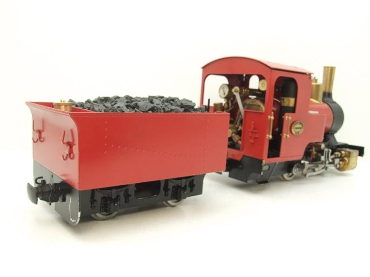 "G Scale  Roundhouse 45mm Gauge Brass, Red, 0-4-0T ""Billy"" Loco & ""George"" Tender Live Steam image 21"