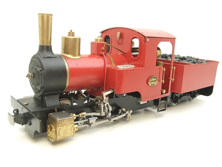 "G Scale  Roundhouse 45mm Gauge Brass, Red, 0-4-0T ""Billy"" Loco & ""George"" Tender Live Steam image 22"