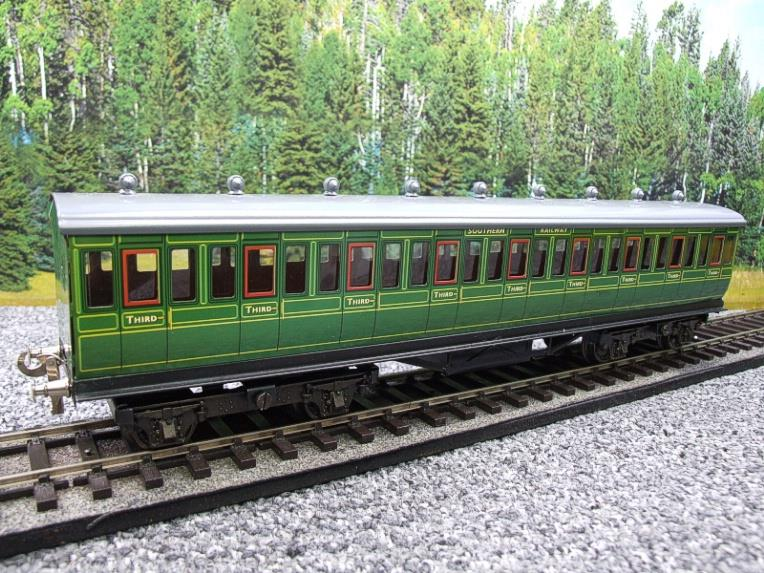 "Ace Trains O Gauge C1 Southern SR ""Southern"" Green x3 NC Passenger Coaches Set image 11"