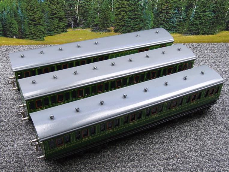 "Ace Trains O Gauge C1 Southern SR ""Southern"" Green x3 NC Passenger Coaches Set image 15"
