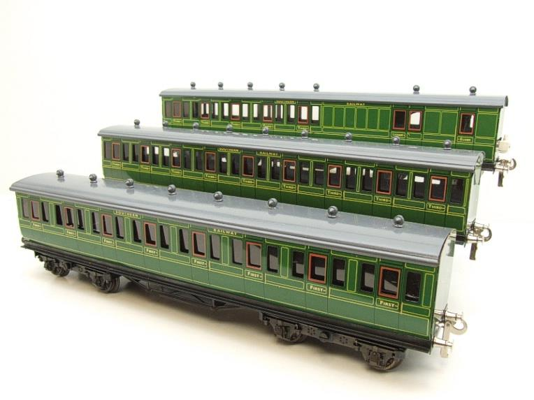 "Ace Trains O Gauge C1 Southern SR ""Southern"" Green x3 NC Passenger Coaches Set image 16"