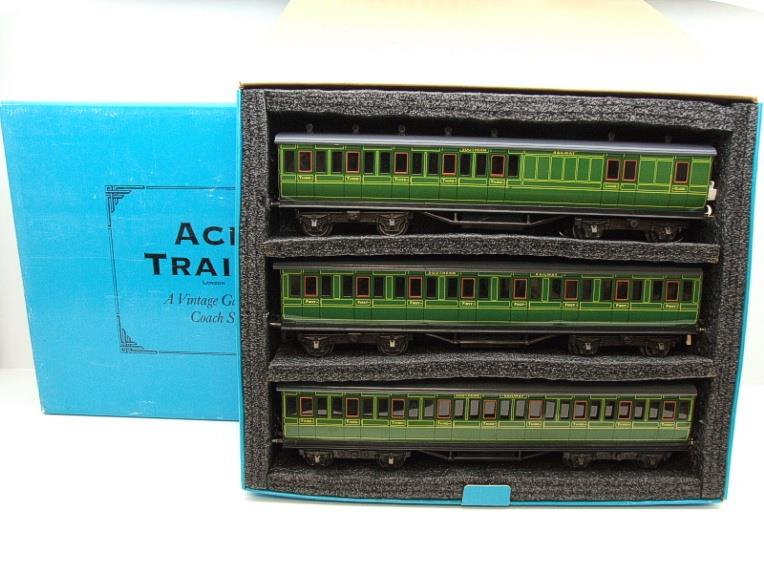 "Ace Trains O Gauge C1 Southern SR ""Southern"" Green x3 NC Passenger Coaches Set image 20"