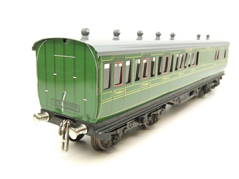 "Ace Trains O Gauge C1 Southern SR ""Southern"" Green x3 NC Passenger Coaches Set image 21"