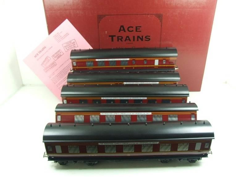 "Ace Trains O Gauge LMS C2 ""Merseyside Express"" Tinplate Coaches x5 Set Boxed image 20"