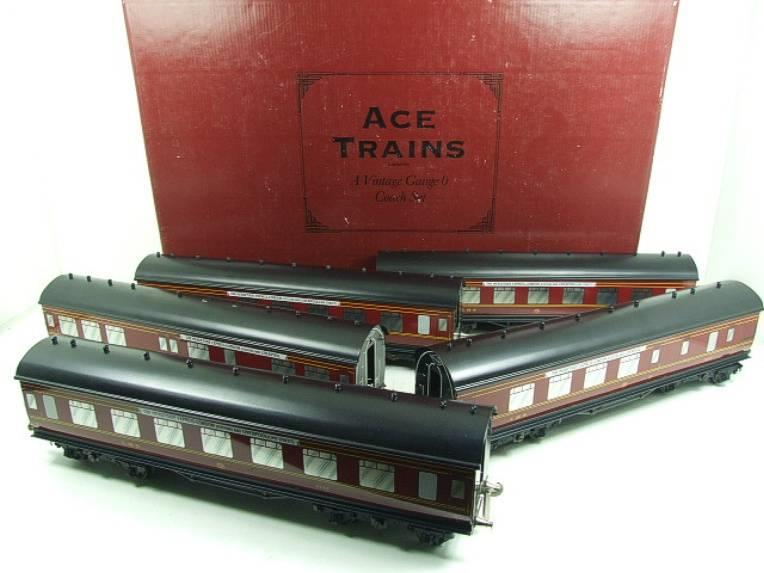 "Ace Trains O Gauge LMS C2 ""Merseyside Express"" Tinplate Coaches x5 Set Boxed image 22"