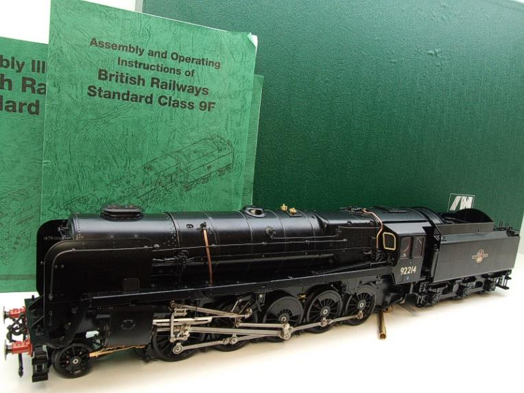 Gauge 1 Aster BR Black Class 9F Loco & Tender 2-10-0 R/N 92214 Live Steam Direct From Aster UK image 22