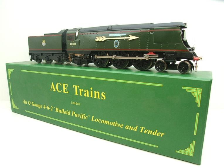 "Ace Trains O Gauge E9S1 Bulleid Pacific BR ""Sir Winston Churchill"" R/N 34051 Electric 2/3 Rail Boxed image 11"