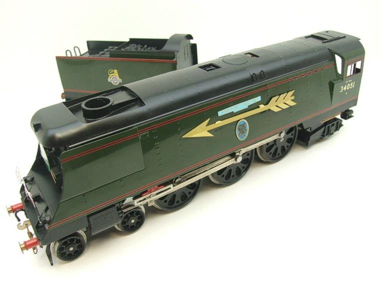 "Ace Trains O Gauge E9S1 Bulleid Pacific BR ""Sir Winston Churchill"" R/N 34051 Electric 2/3 Rail Boxed image 17"