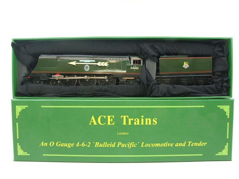 "Ace Trains O Gauge E9S1 Bulleid Pacific BR ""Sir Winston Churchill"" R/N 34051 Electric 2/3 Rail Boxed image 20"