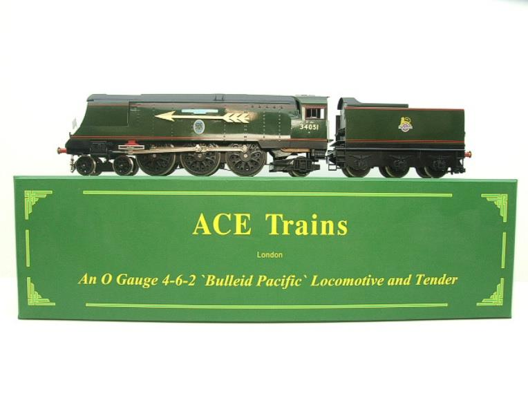 "Ace Trains O Gauge E9S1 Bulleid Pacific BR ""Sir Winston Churchill"" R/N 34051 Electric 2/3 Rail Boxed image 22"